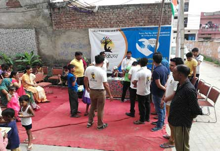Independence Day Celebration & Inauguration of Study Center In Brijesh Vatika Colony held on 15-Aug-2018