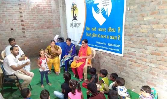 free education camp running by team Nayi Kiran