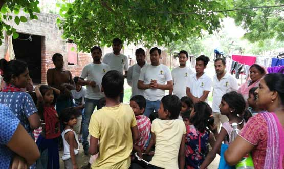 counselling of students for free education by team Nayi Kiran